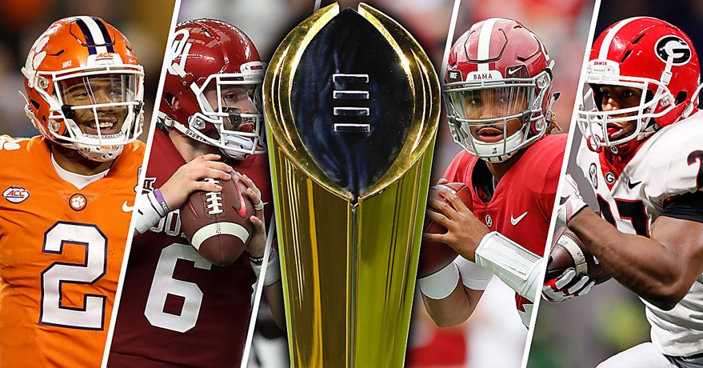 College-Football-Playoff-semifinals-Kelly-Bryant-Baker-Mayfield-Jalen-Hurts-Nick-Chubb-championship-trophy-white-by-Getty-Images-DRC_1234_fdtsga_qdhlos-1