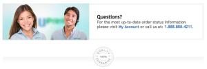 UPrinting.com confirmation email